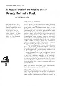 Beauty Behind a Mask - The Magdalena Project