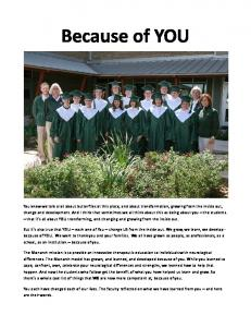 Because of YOU - Monarch School