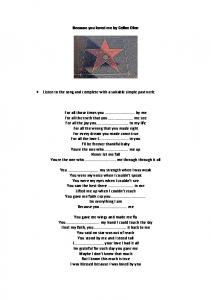 Because you loved me by Celine Dion. Simple Past.pdf