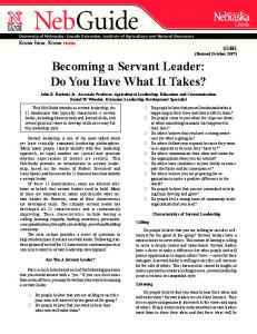 Becoming a Servant Leader: Do You Have What It Takes?