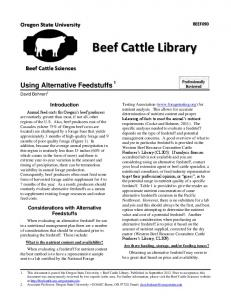 Beef Cattle Library - OSU Blogs - Oregon State University