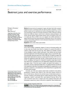 Beetroot juice and exercise performance