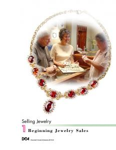 Beginning Jewelry Sales Selling Jewelry - Diamond Council of ...