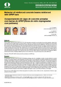 Behavior of reinforced concrete beams reinforced with GFRP ... - SciELO