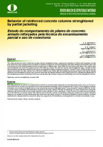 Behavior of reinforced concrete columns strenghtened by partial ...