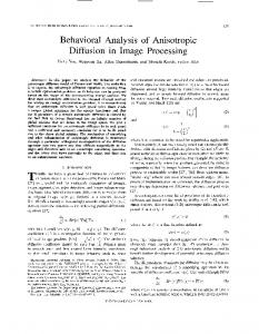 Behavioral Analysis of Anisotropic Diffusion in Image ... - IEEE Xplore