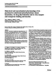 Behavioral and neurochemical pharmacology of six psychoactive ...