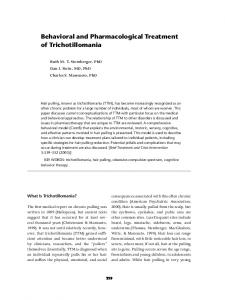 Behavioral and Pharmacological Treatment of ...