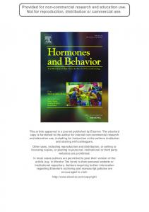Behavioral and physiological responses of a wild teleost fish to cortisol ...