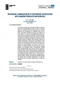 Behavioral consequences of customers' satisfaction with banking ...