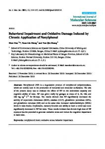 Behavioral Impairment and Oxidative Damage Induced by ... - CiteSeerX