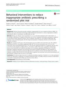 Behavioral interventions to reduce inappropriate antibiotic ... - Core