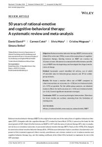 behavioral therapy - Wiley Online Library