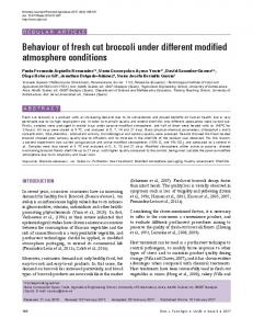 Behaviour of fresh cut broccoli under different modified ... - eJManager