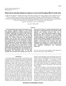 Behavioural and physiological responses to increased foraging effort