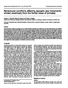 Behavioural conditions affecting saccadic eye movements elicited ...