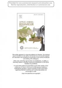 Behavioural responses of cattle to shared foraging with wild ...