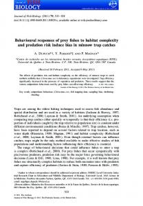 Behavioural responses of prey fishes to habitat complexity and ...
