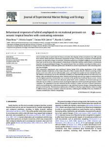 Behavioural responses of talitrid amphipods to ...
