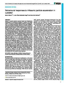 Behavioural responses to infrasonic particle acceleration in cuttlefish