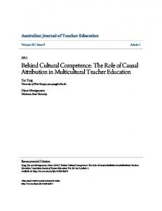 Behind Cultural Competence: The Role of Causal Attribution in ... - Eric