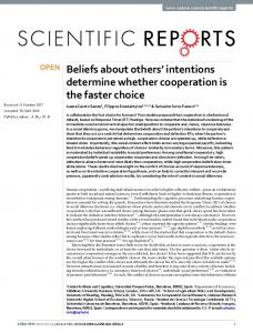 Beliefs about others' intentions determine whether ...
