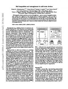 Bell inequalities and entanglement in solid state devices