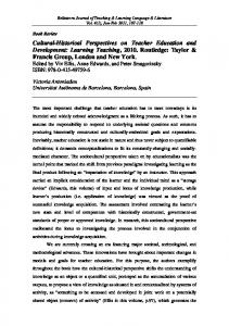 Bellaterra Journal of Teaching & Learning Language & Literature - Raco