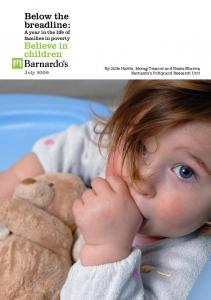 Below the breadline - Barnardo's