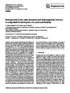 Belowground in situ redox dynamics and ... - Biogeosciences