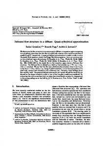Beltrami flow structure in a diffuser. Quasi-cylindrical ... - SciELO