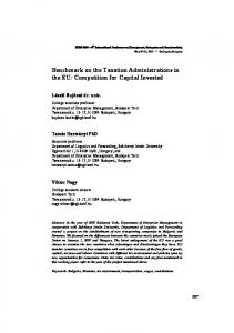 Benchmark on the Taxation Administrations in the EU: Competition for