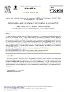 Benchmarking Analysis of Energy Consumption in ... - ScienceDirect