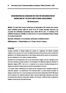 Benchmarking As a Research Method for Obtaining System ... - Journals