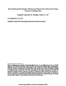 Benchmarking Benchmarks: Measuring Characteristic ... - SSRN papers