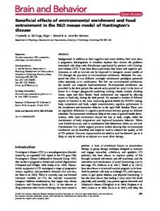 Beneficial effects of environmental enrichment ... - Wiley Online Library