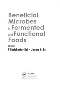 Beneficial Microbes in Fermented and Functional Foods