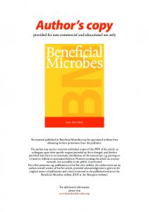 Beneficial Microbes (Netherlands) 2012