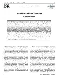 Benefit-Based Tree Valuation - Arboriculture & Urban Forestry