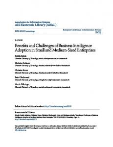 Benefits and Challenges of Business Intelligence ...