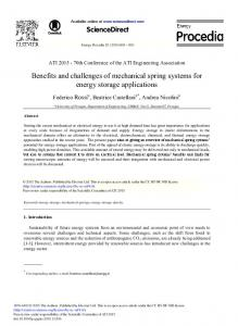 Benefits and Challenges of Mechanical Spring ... - ScienceDirect