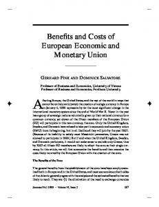 Benefits and Costs of European Economic and Monetary Union