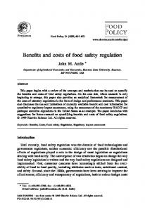 Benefits and costs of food safety regulation