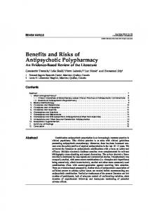 Benefits and Risks of Antipsychotic Polypharmacy