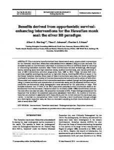 Benefits derived from opportunistic survival ... - Inter Research