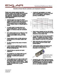 Benefits of Electric Cylinders over Hydraulic Cylinders