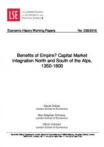 Benefits of Empire? Capital Market Integration North and South ... - LSE