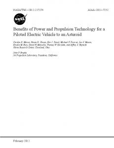 Benefits of Power and Propulsion Technology for a Piloted Electric ...