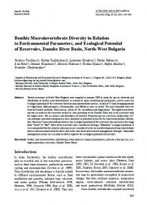 Benthic Macroinvertebrate Diversity in Relation to Environmental ...