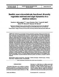 Benthic macroinvertebrate functional diversity regulates nutrient and ...